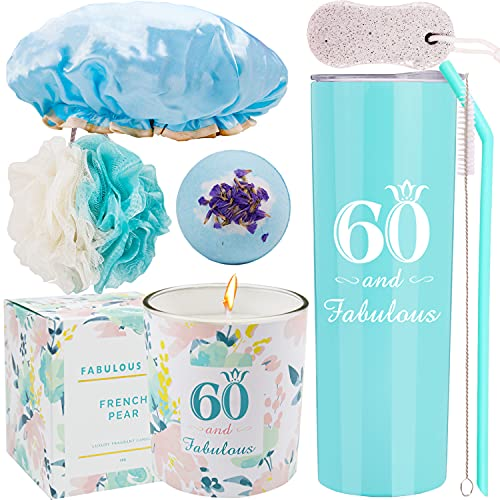 60th Birthday,Happy 60th Birthday,60th Birthday Tumbler,60th Birthday Gifts for Women,Gifts for 60th Birthday Women,60th Birthday Decorations, Happy 60th Birthday Candle,60th Birthday Party Supplies
