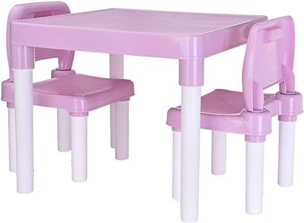 Lookvv Kids Table And Chairs Set Toddler Activity Chair Best For Lego Reading Art Play Room Children Furniture Accessories