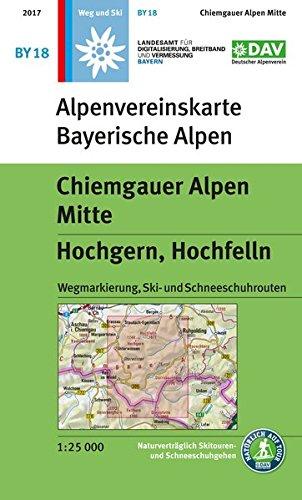 Chiemgauer Alpen, Mitte - Hochgern, Hochfelln: Wegmarkierung, Ski- und Schneeschuhrouten (Alpenvereinskarten)