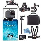 GoPro HERO7 Hero 7 Waterproof Digital Action Camera with 32GB microSD Card Starter Bundle (Silver)