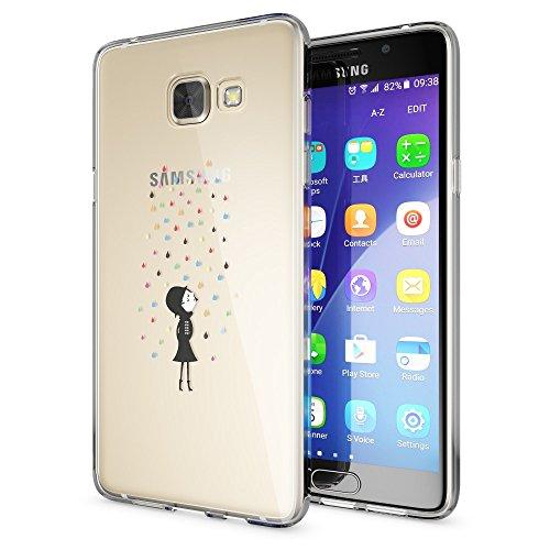 Samsung Galaxy A52016copertura di Nica, Slim case silicone cover crystal custodia di alta qualità del telefono, sottile e con retro trasparente e paraurti