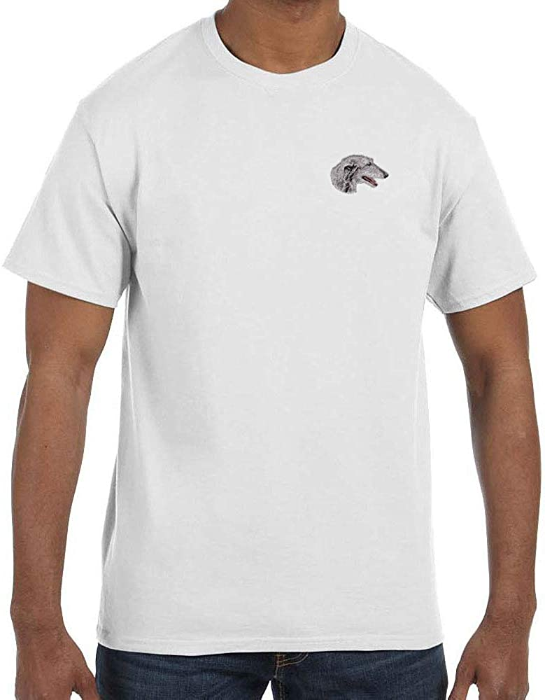 Cherrybrook White Dog Breed Embroidered Mens T-Shirts (All Breeds)