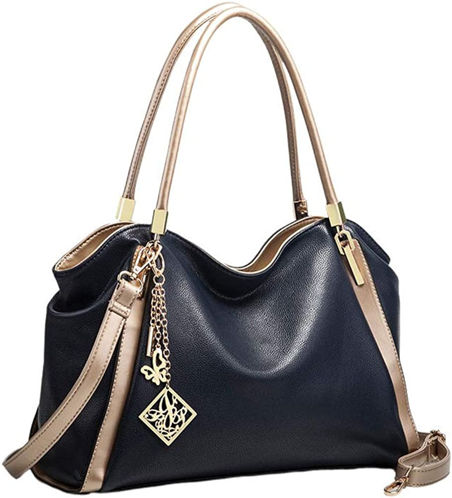 FENICAL Women Handbag PU Leather Crossbody Bag Large Capacity Top-Handle Purse