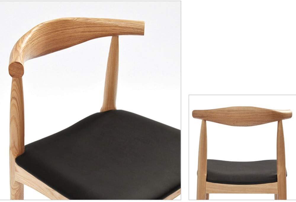 LJFYXZ Chaise de salle à manger Dossier d'arc Grande surface d'assise Cadre en bois massif Forte capacité de charge 9 styles 47x47x76cm (Couleur : E) J