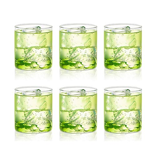 Borosil - VCST210 Borosil Vision Classic Small Tumbler [Set of 6] Clear Lightweight & Durable Drinkware, 7 Ounce Cups