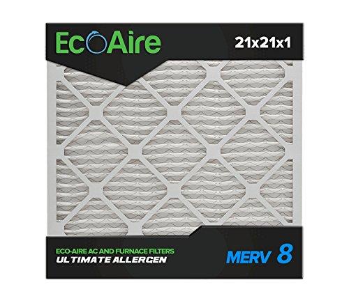 21 x 21 x 1 MERV 8 Pleated Air Filter, Box of 6