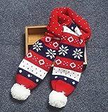 Herbst/Winter Baby Baby Baby weicher Haaransatz gestrickte warme Schal-Weihnachtsschneeflocken