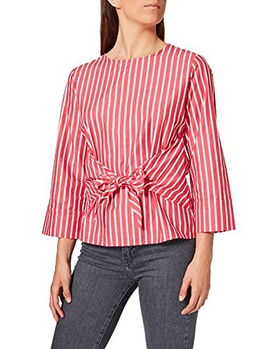 OPUS Damska bluzka w paski, czerwony (True Red 4086), 40 PL