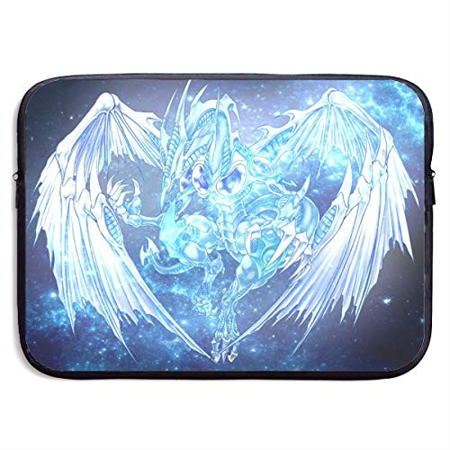 13-15 Inch Water Repellent Gaming Laptop Sleeve for Office Travel, Stardust Dragon - Yu-Gi-Oh! 5D's Fan Art Protective Vintage Carrying Cover Fit for Acer Dell Samsung Ect