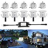 埋め込み式ライト FVTLED スポットライト 地中埋込型ライト 12V 0.6W IP67防水 LED 照明 (クールホワイト)
