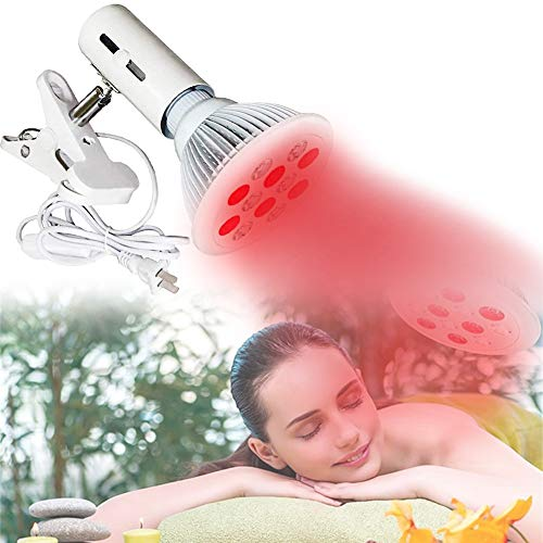 EFGSbed Rotlichtlampe, 24 W Infrarotlichtlampe, Beauty Lampe 660Nm & 850Nm, LED Lampe Verstellbarer Für Haut-Und Schmerzlinderung Schönheit, Weihnachten Geschenk