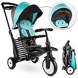 smarTrike STR5 Triciclo Plegable con Carrito Certificado para niños de 1,2,3 años con Bordado Personalizado, Triciclo multietapa 7 en, Azul