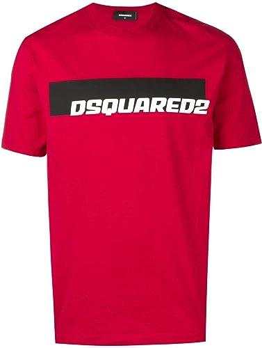 Dsquarouge2 Homme S71GD0762S22427254 Rouge Coton T-Shirt