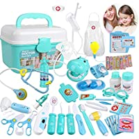 Goodking 45 Pieces Educational Doctor Pretend Play Toy Set