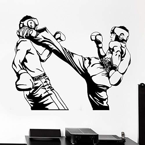 fdgdfgd Taekwondo Sports Vinyl Wandaufkleber Karate Kick Boxen Boxer Wandtattoo Home Schlafzimmer Dekoration Zubehör Abnehmbar