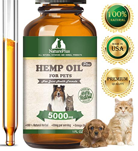 HAPIPET Hemp Oil Dogs Cats,Omega Rich 3, 6 & 9-Help Separation Anxiety, Stress...