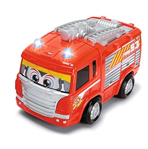 RC Feuerwehr kaufen Feuerwehr Bild 1: Dickie Toys 203814031 - RC Happy Scania Fire Engine, funkferngesteuertes Feuerwehrauto, für Kleinkinder ab 2 Jahren, 27 cm*