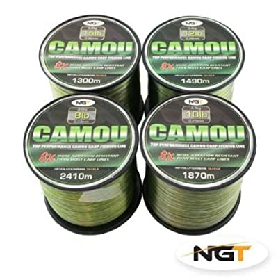 Carp & Coarse Fishing Line Camo Colour available in 8lb 10lb 12lb 15lb Breaking Strain (12lb)