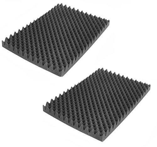 SCHAUMEX ® Noppenschaumstoff Akustik Schaumstoff Akustikschaumstoff Dämmung (500 mm x 350 mm x 50 mm) (Set 2 x Noppenschaum)