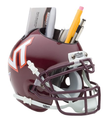Schutt NCAA Virginia Tech Hokies Football Helmet Desk Caddy, Classic