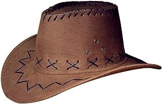 Comhats Unisex Cowboy Stroh H/üte Formbare Krempe mit Kinnriemen
