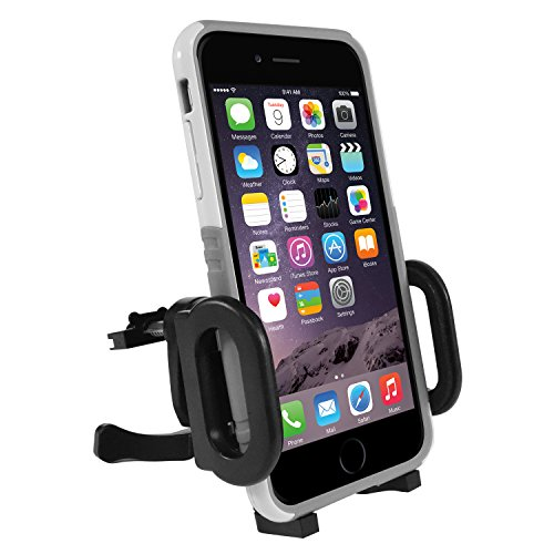Macally Universal Car Vent Phone Holder Mount with 360° Rotatability and a Metal Spring Loaded Clip for iPhone XS XS MAX XR X 8 Plus, Samsung S9 S9 Plus S8, and other Smartphones (MCARVENT)