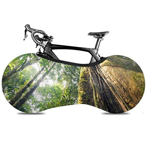 Olive Croft Amazon Primeval Jungle Multi Bike Cover Cubierta de Polvo de Rueda de Bicicleta Cubierta de Rueda de Bicicleta de Carretera Se Adapta a Casi Todas Las Bicicletas