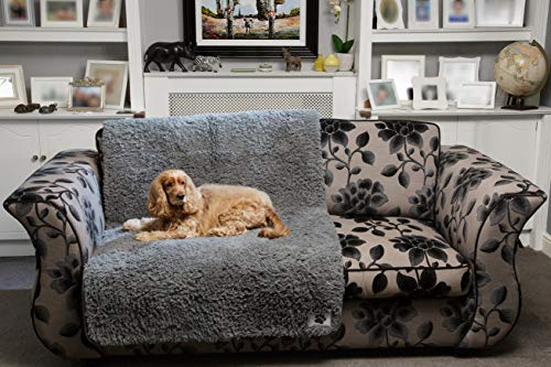 Pet Rebellion Comfy Cover Non-Slip Foam Padded Dog Mat Absorbent Washable Sofa or Bed Protector – Extra Large Size 100cm x 170cm – Fully Guaranteed