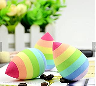 1qty Beauty Flawless Wedding Makeup Blender/Miracle Complexion Makeup Blender/Sponge Rainbow Color for Liquid, Powder, Cream Application, Multipurpose Round Bottom Makeup Sponges - All purpose
