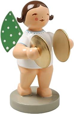 Wendt & Kuhn Brunette Hand Painted Grunhainichen Angel Cymbals Figurine
