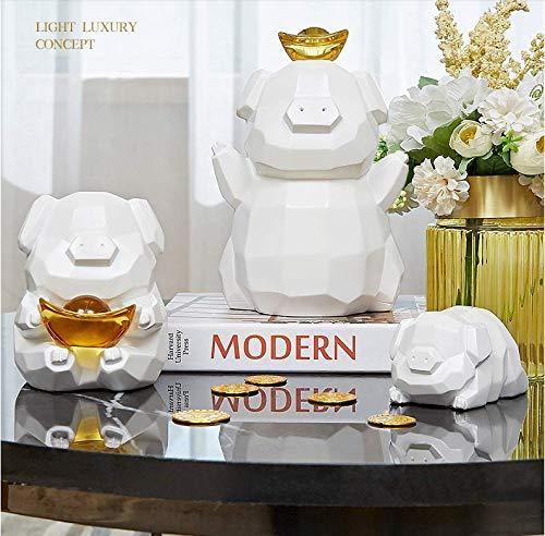 beiping Modern Minimalistische Creatieve Knorretje Ornamenten Praktische Piggy Bank Een Drie-Poort Partitie Veranda Woondecoratie Meubels