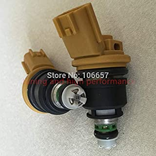ABRAMOV DMITRY - 555CC high performance nismo side feed fuel injector 16600-RR543 yellow for nisaan 300ZX Z32 RB25DET VG30DETT SR20DET KA24