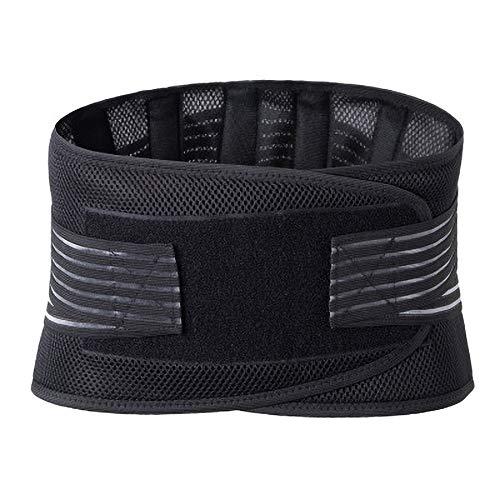 PETUNIA Soporte de Cintura Lumbar Soporte de Espalda Cinturón Soporte de Cintura Soporte de Fitness Protección Deportiva Corrector de Postura Reconstruir Negro