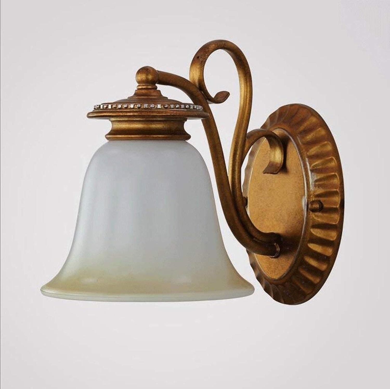 HhGold Eisen Lampe Wand Lounge Die Schlafzimmer Wand Bett Lampen und Rhren im Hotel verpflichtet, Beleuchtung (Farbe  Messing 19  28 cm). (Farbe   Brass-19  28cm)