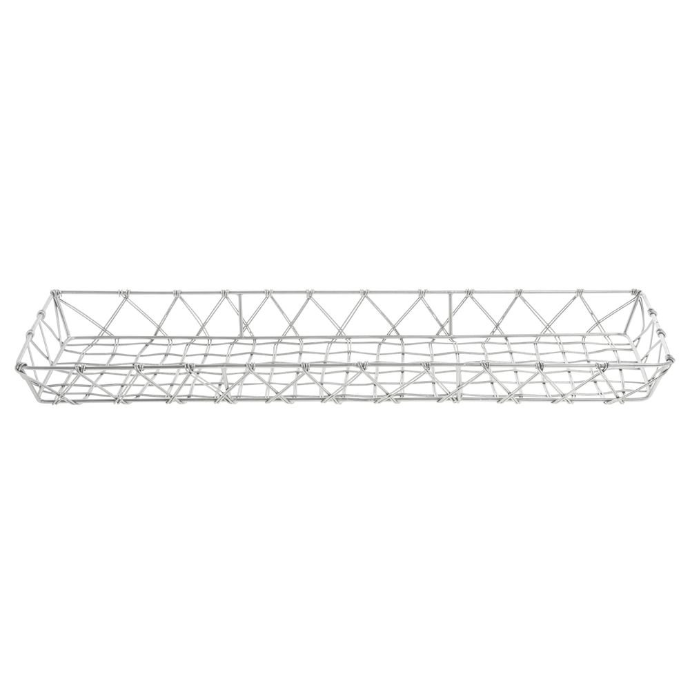 Pastry Basket Rectangular Tapered Silver Steel - Opening large release Product sale 1 23 7 2