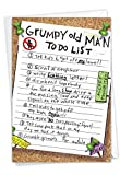 Grumpy Old Man List - Hilarious Happy Birthday Greeting Card with Envelope (4.63 x 6.75 Inch) - Bday Notecard for Dad, Husband, Grandpa - Stationery Birthday Congratulations Note Card 9729