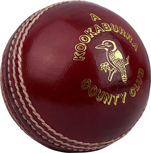 Kookaburra County Club - Pelota de críquet (hombres, jóvenes, mujeres), rojo, hombres