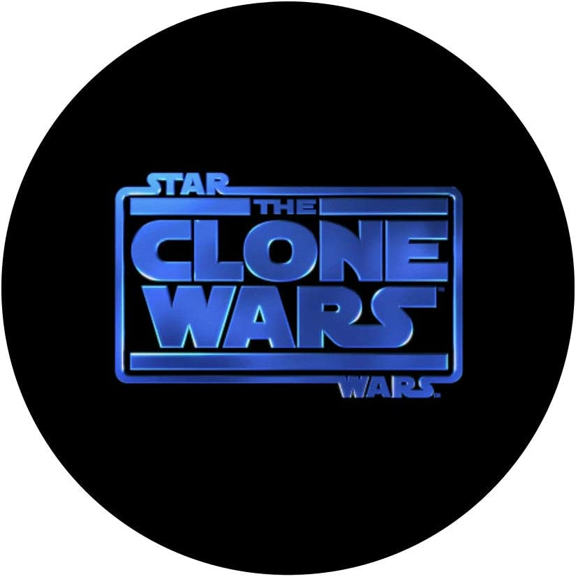 Star Wars Clone Wars Logo PopSockets Support et Grip pour Smartphones et Tablettes