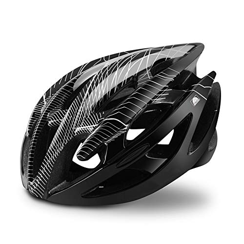 Fietshelmen, Fiets Fietshelm Superlight 21 Vents Ultra-Light ademend MTB Road Bicycle Safety Helmet L/M voor mannen en vrouwen,Black,M