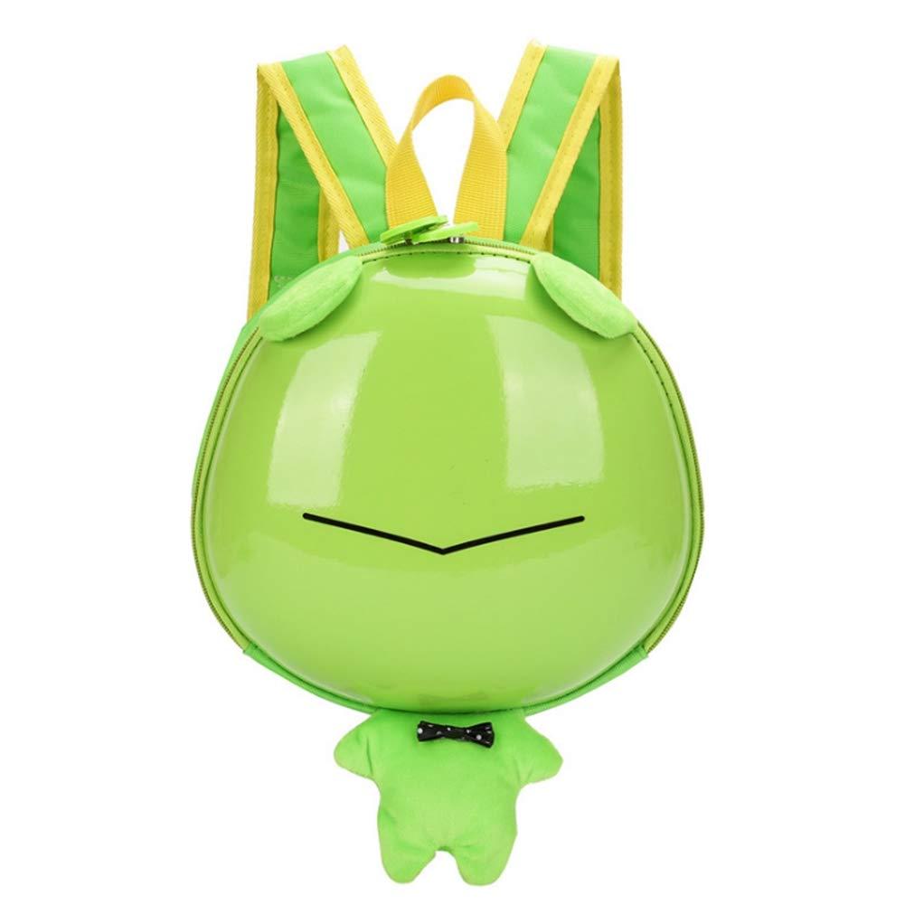 疙瘩王子供の通学バッグ王王チーム漫画ハードシェルバッグ幼稚園男女の赤ちゃんのバックパックの卵の殻の小さな袋の子供のバッグ(カエル)