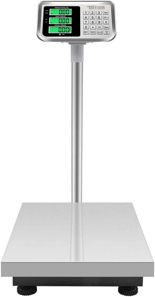 Ranking TOP12 TUFFIOM 661lbs Phoenix Mall Weight Electronic Steel Scale Stainless Platform
