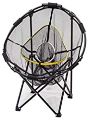 Sharpen your skills with the ultimate folding chipping basket Features 3 chipping baskets for the ultimate challenge Great for left or right handed golfers Perfect for any skill level Fully expanded size: 30-inches in diameter
