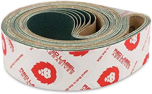 2 X 72 Inch 120 Grit Metal Grinding Zirconia Sanding Belts, 6 Pack