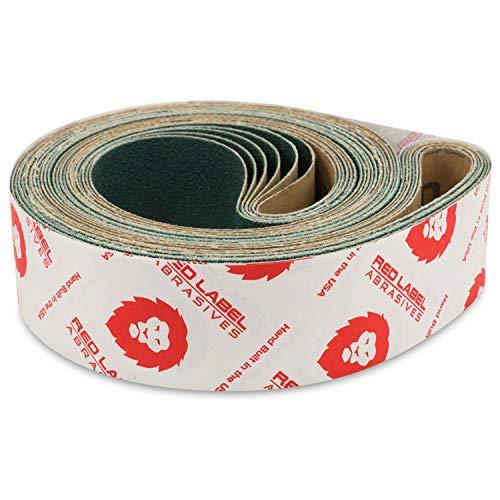 Red Label Abrasives 2 X 72 Inch 60 Grit Metal Grinding Zirconia Sanding Belts, 6 Pack