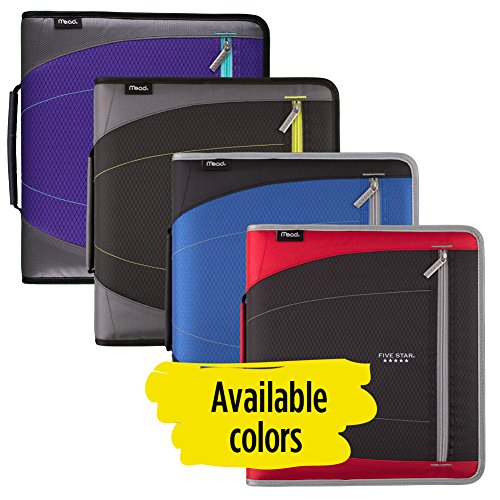 Five Star 2 Inch Zipper Binder, 3 Ring Binder, Removable File Folders, Durable, Red (73283) Photo #6