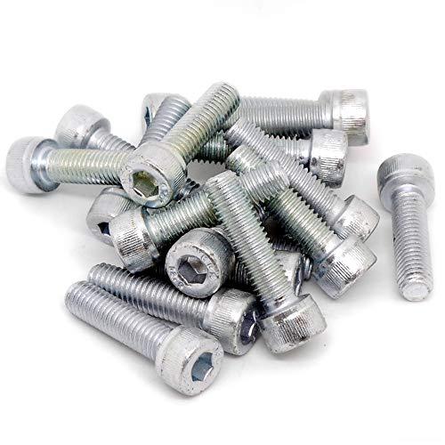 sourcingmap/® M2x6mm Metal Grade 10.9 Button Head Hex Socket Cap Screw Bolt Fastener 50pcs