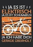 Notizbuch A4 kariert mit Softcover Design: Elektrisches Fahrrad E-Bike Witz Fahrrad Geschenk Spruch: 120 karierte DIN A4 Seiten