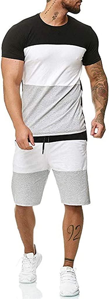 LEIYAN Mens 2 Piece Hawaiian Sports Outfit Summer Casual Short Sleeve Shirt and Shorts Classic Fit Stylish Tracksuit Set