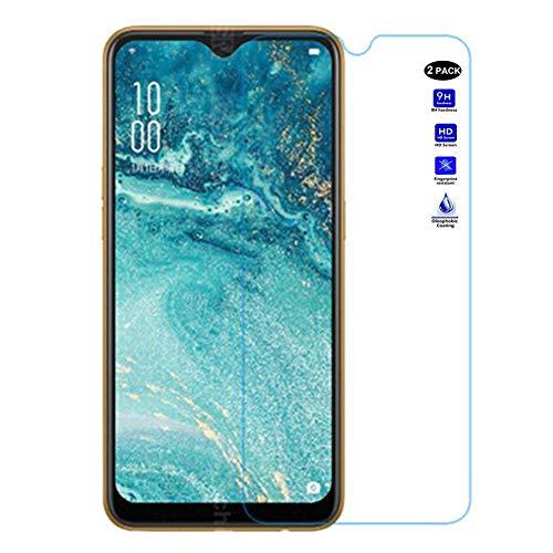 XMTON Oppo AX7 6.2 Pellicola Protettiva,Ultra Resistente Trasparente Durezza 9H Vetro Temperato Protezione Schermo per Oppo AX7 Smartphone (2 Pack)