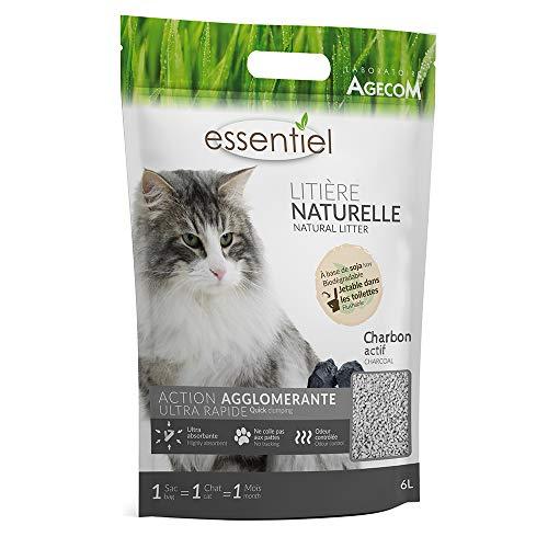 Essentiel Natural Clumping Cat Litter, Flushable, Biodegradable, Plant...